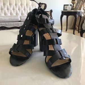 Cute strappy black heels